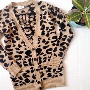RD Style Leopard print cardigan